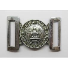 Victorian Surrey Constabulary Waist Belt Clasp Buckle