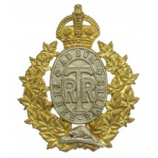 Canadian Three Rivers Regiment Cap Badge - King's Crown