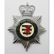 Avon & Somerset Constabulary Enamelled Helmet Plate - Queen's