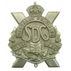 Canadian Stormont, Dundas & Glengarry Highlanders Cap Badge - King's Crown