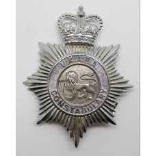 United Kingdom Atomic Energy Authority (U.K.A.E.A.) Constabulary Helmet Plate - Queen's Crown