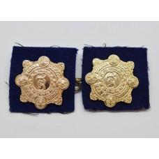 Pair of Garda Siochana (Irish Police) Anodised Collar Badges