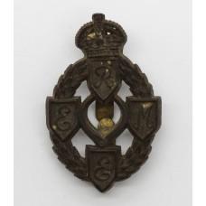 Royal Electrical & Mechanical Engineers (R.E.M.E.) WW2 Plastic Economy Cap Badge