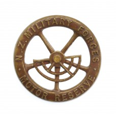New Zealand Military Forces Motor Reserve Bronze Cap Badge