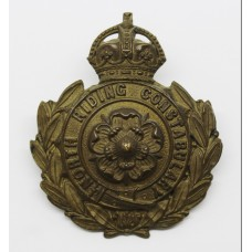 North Riding Constabulary Small Wreath Helmet Plate