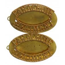 Pair of Parachute Regiment (PARACHUTE/REGIMENT) Shoulder Titles