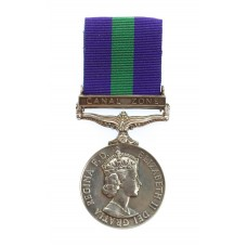 General Service Medal (Clasp - Canal Zone) - Pte. G.B. Corrick, R