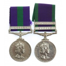 General Service Medal (Clasp - Brunei) & Campaign Service Med