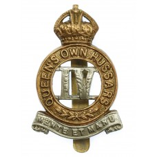4th Queen's Own Hussars Cap Badge - King's Crown