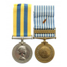 Queen's Korea Medal and UN Korea Medal Pair - Tpr. H. Gillick, 1s