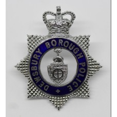 Dewsbury Borough Police Senior Officer's Enamelled Cap Badge - Queen's Crown