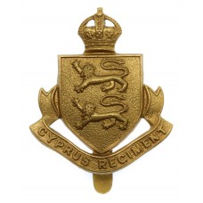 Cyprus Regiment Cap Badge - King's Crown