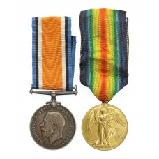 WW1 British War & Victory Mentioned In Despatches Medal Pair