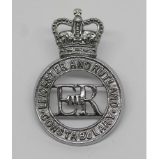Leicester and Rutland Constabulary Cap Badge - Queen's Crown
