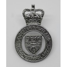 Leicester & Rutland Constabulary Cap Badge - Queen's Crown