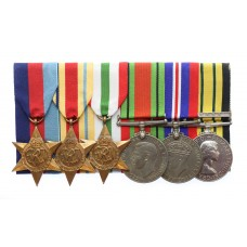 WW2 and Africa General Service (Clasp - Kenya) Medal Group of Six
