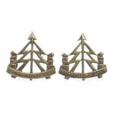 Pair of Reconnaissance Corps White Metal Collar Badges
