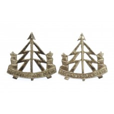 Pair of Reconnaissance Corps Officer's Silvered Collar Badges