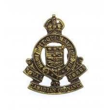 Royal Canadian Army Ordnance Corps Collar Badge - King's Crown