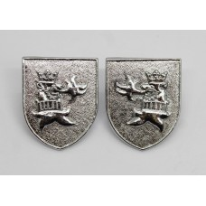 Pair of Cleveland Constabulary Collar Badges