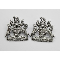 Pair of Devon and Exeter Joint Constabulary Collar Badges