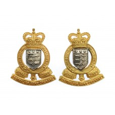 Pair of Royal Australian Army Ordnance Corps Officers Dress Collar Badges - Queen's Crown