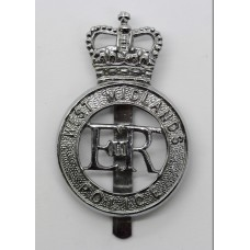 West Midlands Police Cap Badge - Queen's Crown