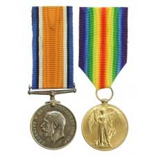 WW1 British War & Victory Medal Pair - Dvr. D. Pickup, Army S