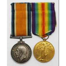WW1 British War & Victory Medal Pair - Pte. W. Ferguson, Machine Gun Corps