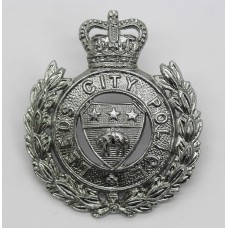 Leeds City Police Cap Badge - Queen's Crown