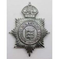 Borough of Hastings Police Helmet Plate - King's Crown