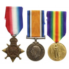 WW1 1914-15 Star Medal Trio - Pte. W.A. Naylor, West Riding Regiment