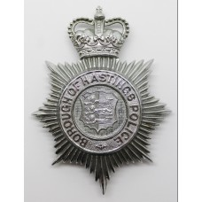 Borough of Hastings Police Helmet Plate - Queen's Crown