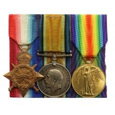 WW1 1914-15 Star Medal Trio - Pnr. G.W. Green, Royal Engineers