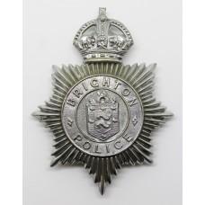 Brighton Borough Police Helmet Plate - King's Crown