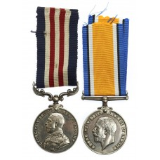WW1 Military Medal and British War Medal - Pte. R. Harrison, 9th