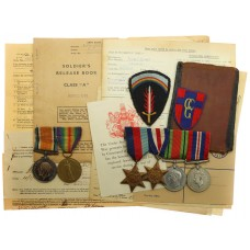 Wallace Family WW1 and WW2 Father & Son Medal Group - West Yo