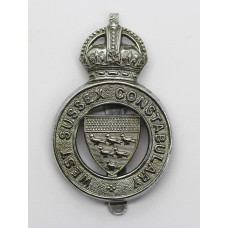 West Sussex Constabulary Cap Badge - King's Crown