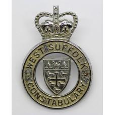 West Suffolk Constabulary Cap Badge - Queen's Crown