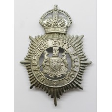 Bradford City Police Helmet Plate - King's Crown