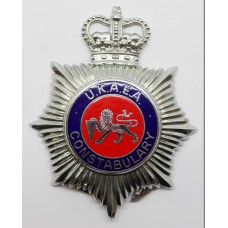 United Kingdom Atomic Energy Authority (U.K.A.E.A.) Constabulary Enamelled Helmet Plate - Queen's Crown
