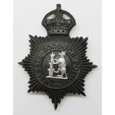 Walsall Borough Police Night Helmet Plate - King's Crown