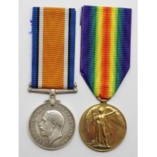WW1 British War & Victory Medal Pair - Spr. H. Hopper, Royal Engineers