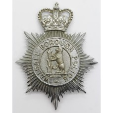 Walsall Borough Police Helmet Plate - Queen's Crown