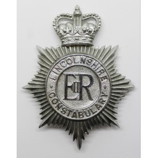 Lincolnshire Constabulary Helmet Plate - Queen's Crown