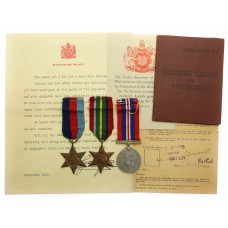 WW2 Japanese Prisoner of War Medal Group of Three - Cpl. F.W.G. Champion, Royal Army Ordnance Corps