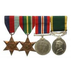 WW2 Japanese Prisoner of War Territorial Efficiency Medal Group of Four - Gnr. C. Hill, 125th Anti-Tank Regt, Royal Artillery