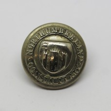 Northumberland Constabulary Coat of Arms Button