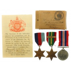 WW2 Japanese Prisoner of War Casualty Medal Group of Three - Able Seaman Kenneth Whiley, H.M.S. Sultan, Royal Navy