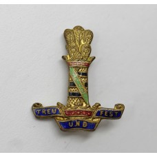 11th Hussars (Prince Albert's Own) Enamelled Sweetheart Brooch